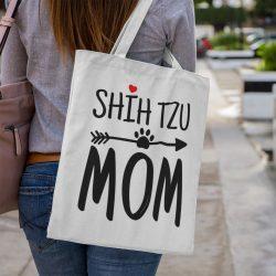 Shih tzu mom vászontáska