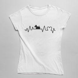 Skót terrier heartbeat női póló