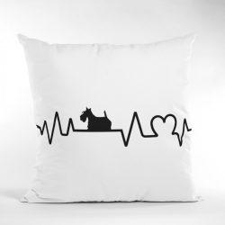 Skót terrier heartbeat párna
