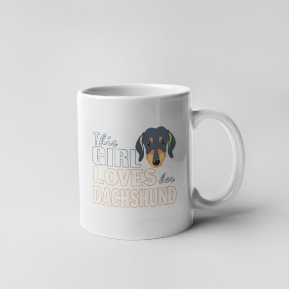 This girl loves her dachshund bögre