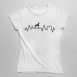 Vizsla heartbeat női póló