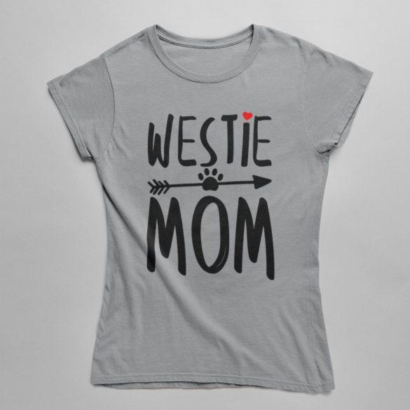 Westie mom női póló