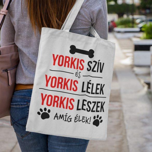 Yorkis szív és yorkis lélek Vászontáska